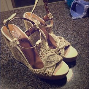 Lucky Brand crochet wedge